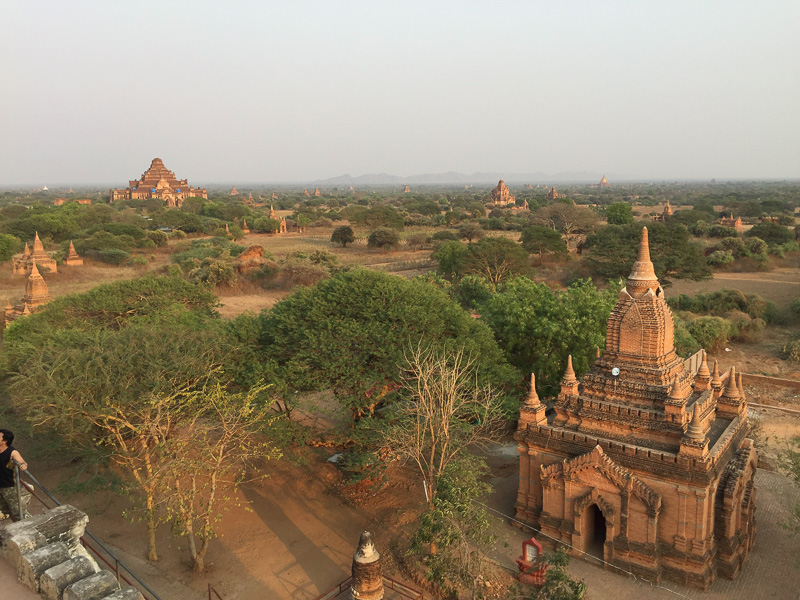 Temples as far as the eye can see.