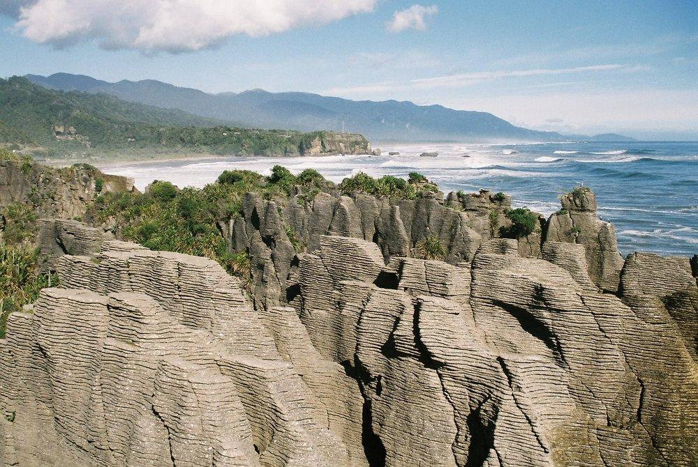 Pancake Rocks, New Zealand. photo by Katherine Ford