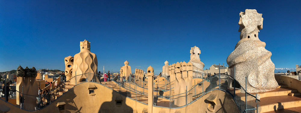 Incredible Roof Top of Casa Mila