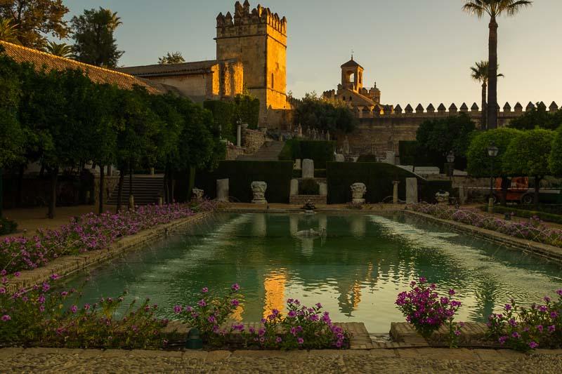 Stunning gardens of Alcázar de Los Reyes Cristianos