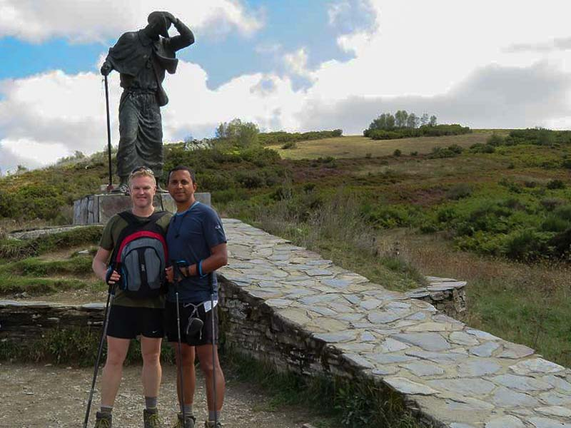 Mark and Rohit on the Camino de Santiago