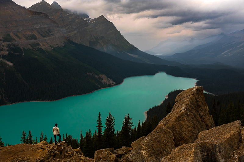 The stunning Peyto Lake, Canada