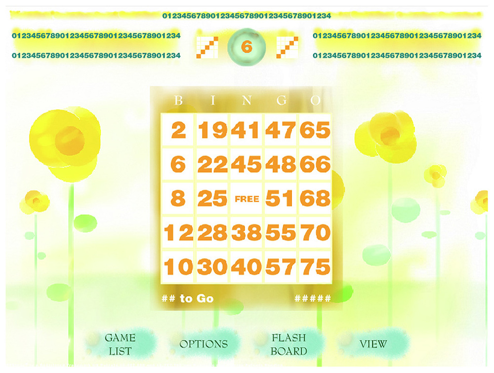 Flower Themed Session Bingo