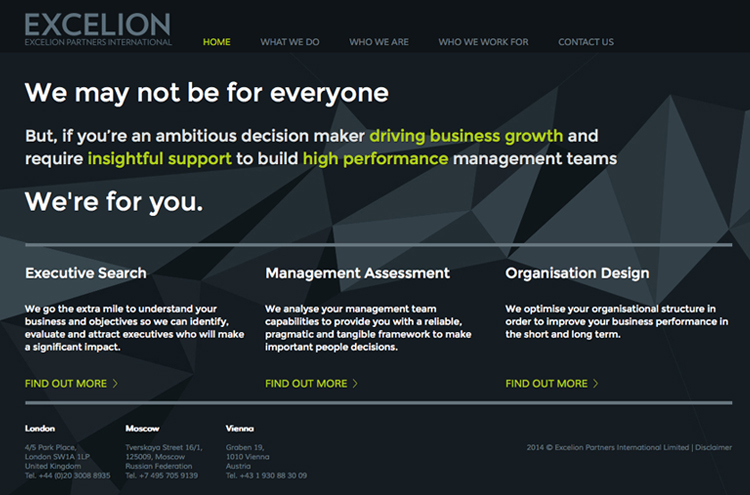 Excelion Homepage