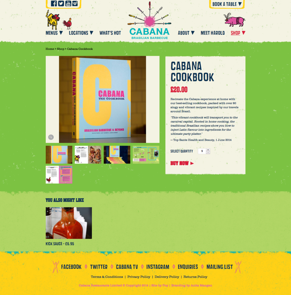 Cabana Cook Book - Click to enlarge