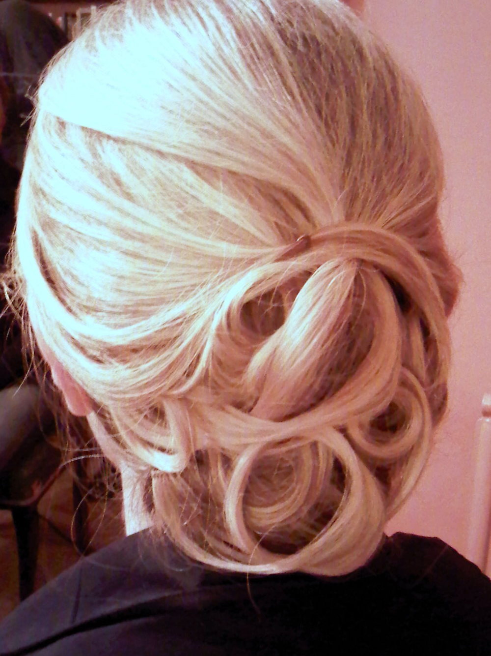Hair up For Wedding In London