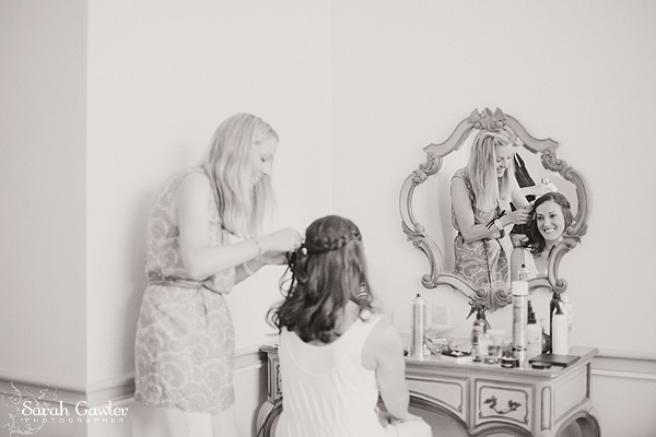 Jo styling hair at Nonsuch Mansion in Surrey