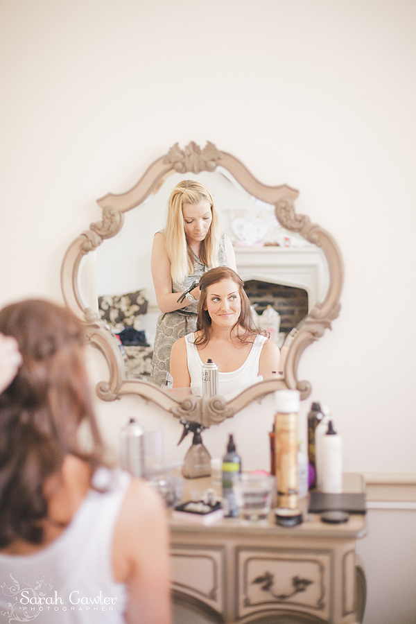 Bridal hair up at Nonsuch Mansion