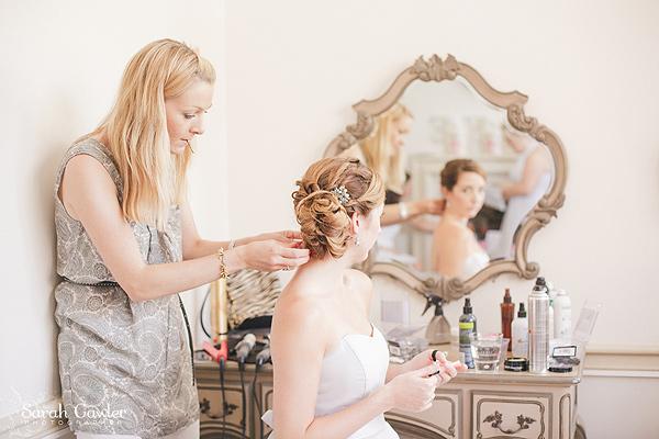 Bridesmaid hair at Nonsuch Mansion