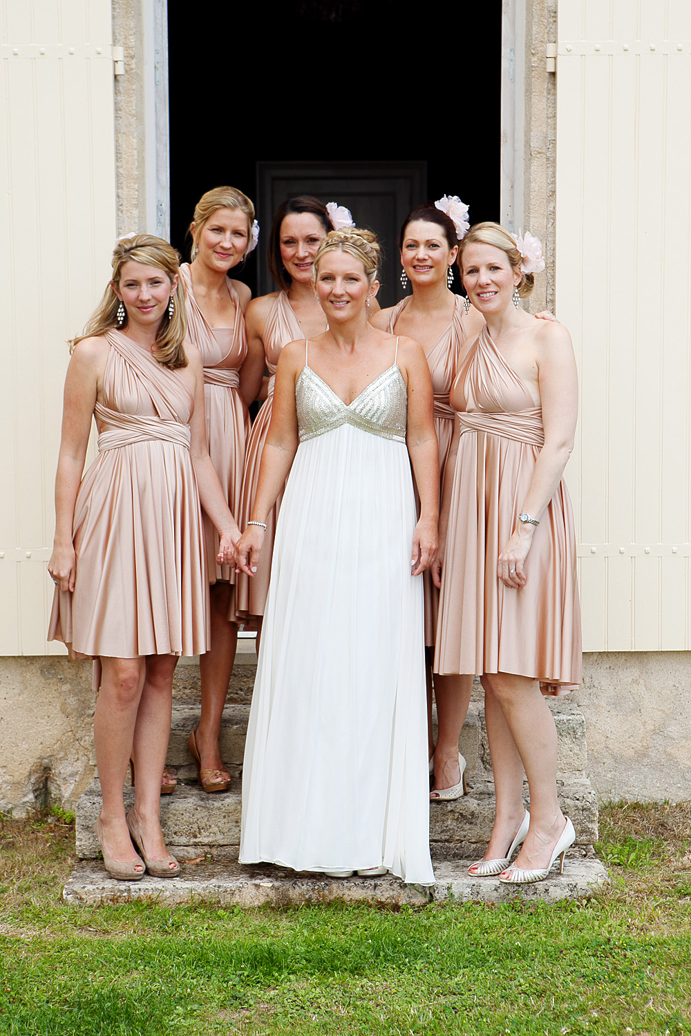 Wedding party at Chateaux Soulac, France