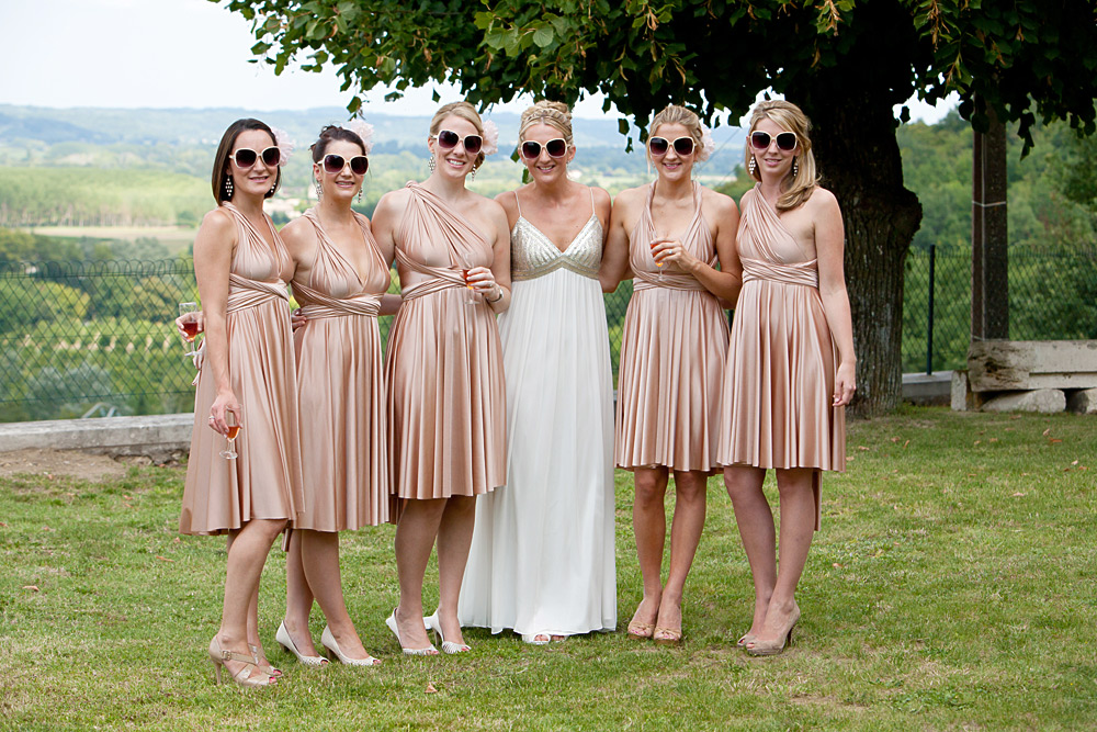 Bride & bridesmaids hair & make up, Dordogne, France
