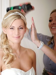 Bridal hair at The Grove Hotel