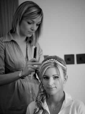 Wedding hair at The Grove Hotel