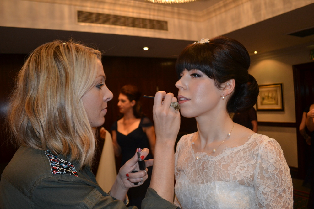 Bridal hair and make up by Jo Irving