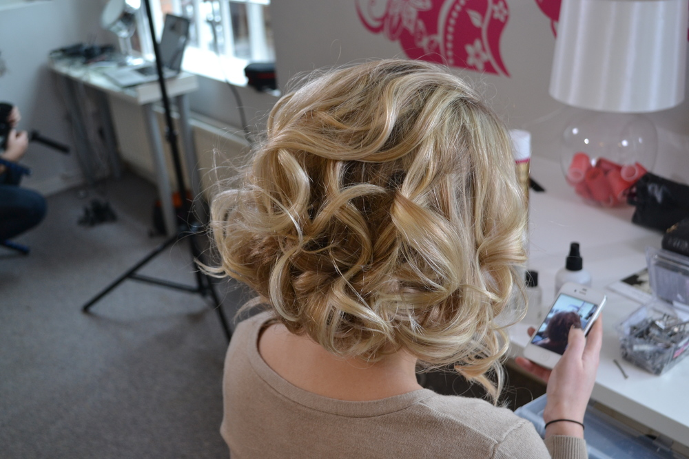 Styling a 'faux bob' for how to videos at Lovehair HQ