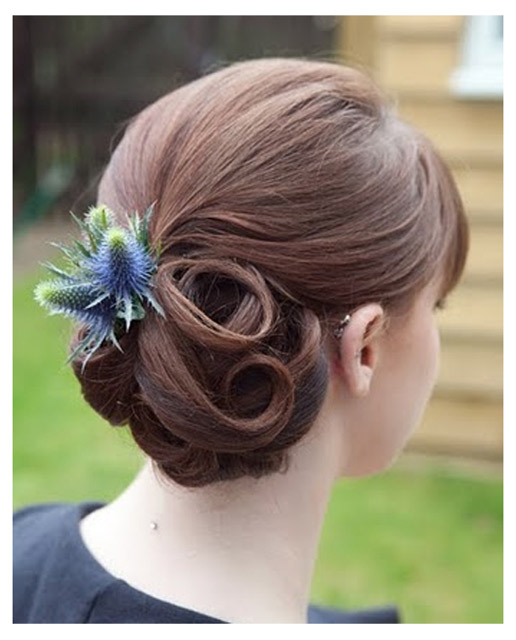 Hair Up With Thistles