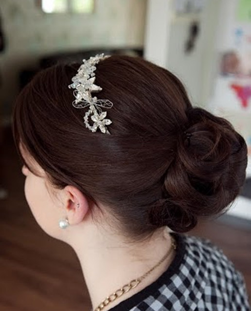 Hair Up With Tiara