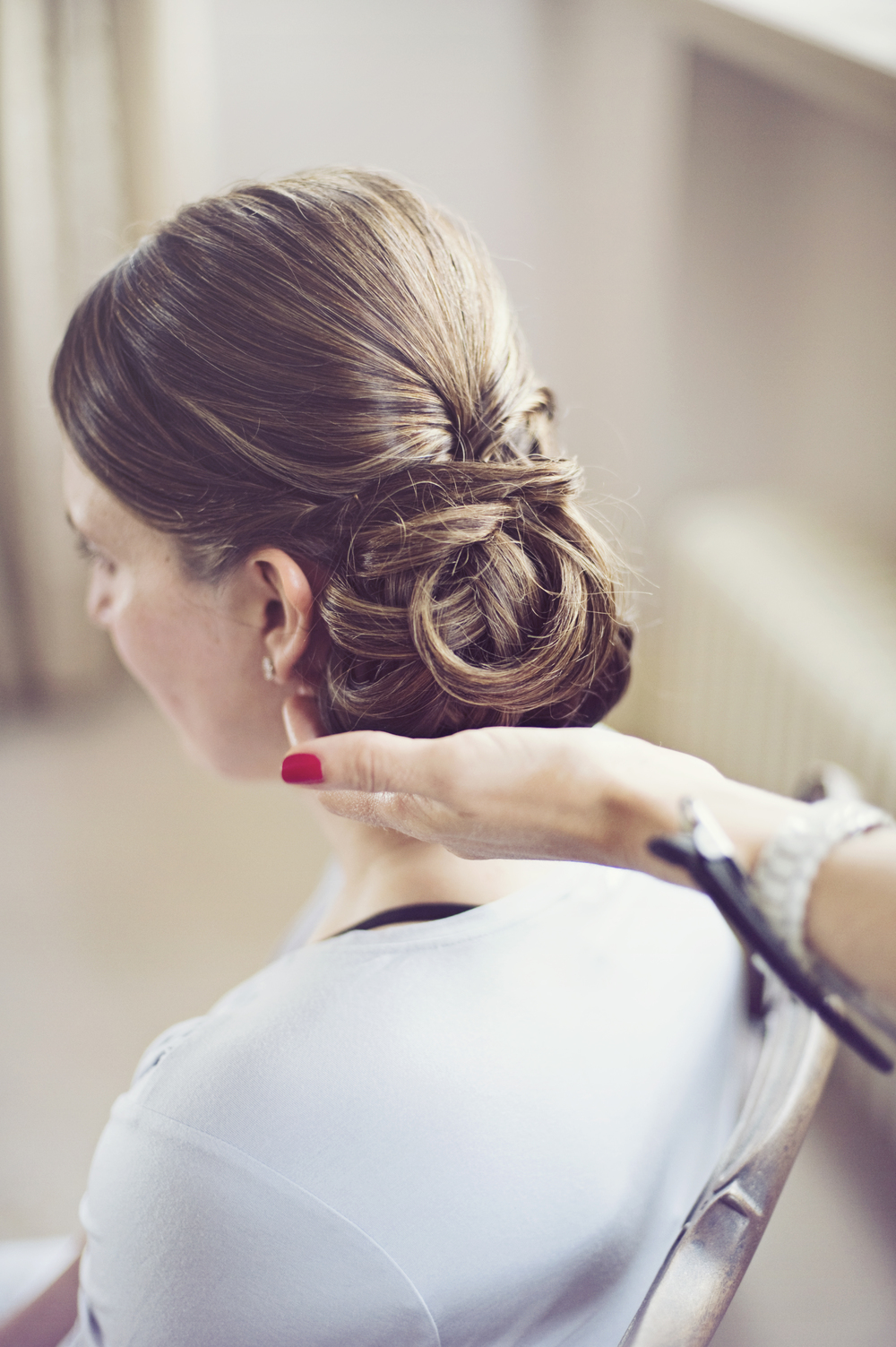 Wedding hair - Side Bun
