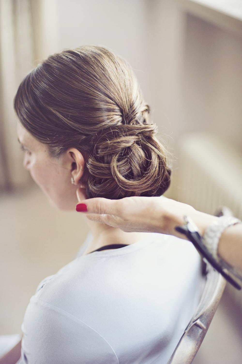 Wedding hair - Side Bun