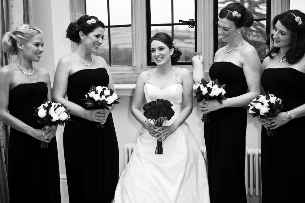Bride & Her maids in Wales