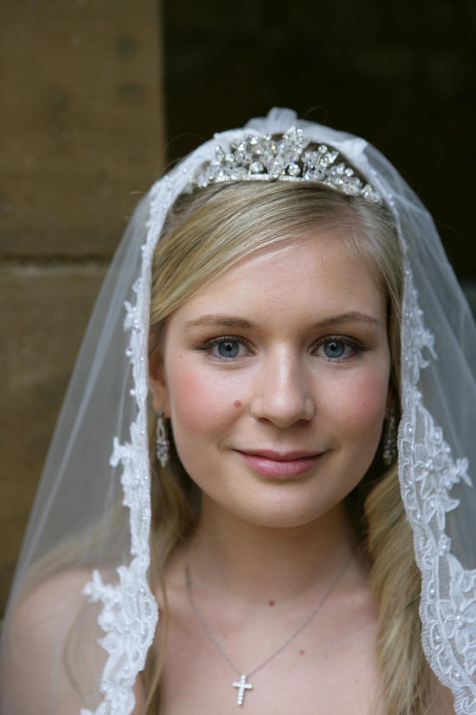 Half Up Half Down wedding Hair With Veil