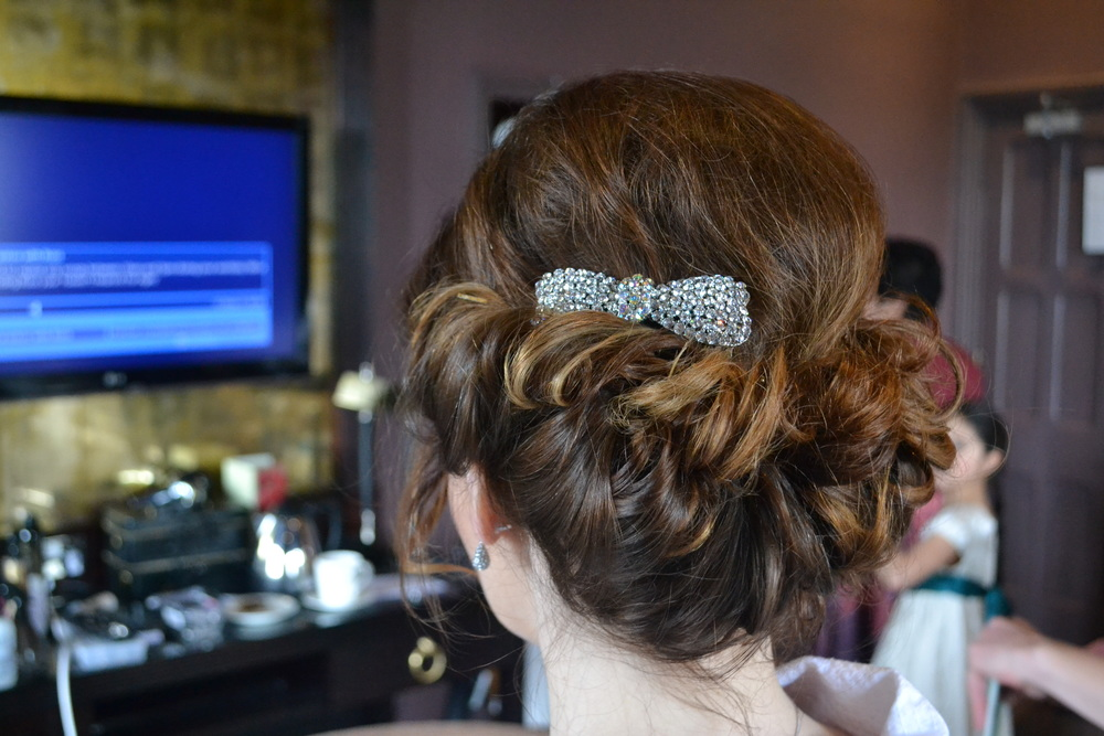 Wedding Hair Up At Nutfield Priory