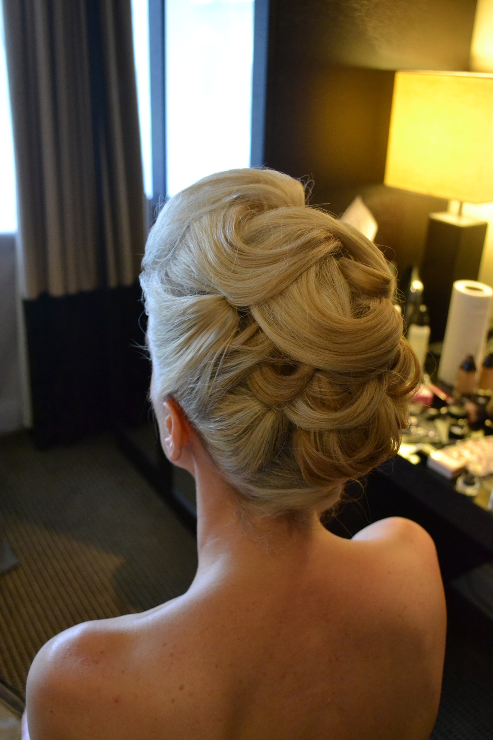 Vintage Inspired Wedding Hair Up