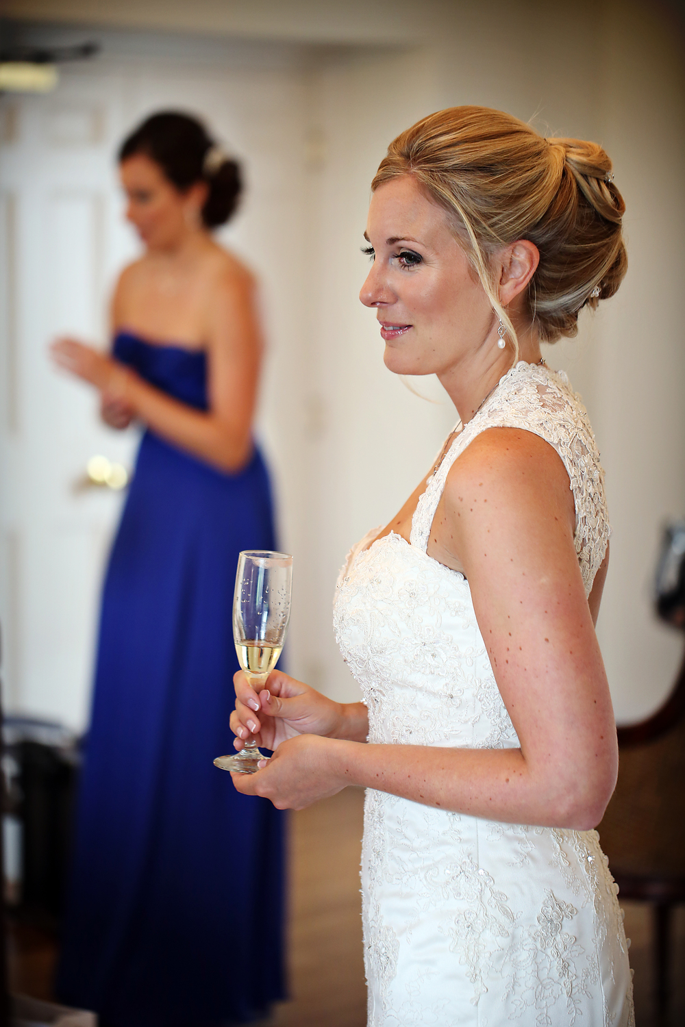 Wedding Hair Up At Bottleysd Mansion, surrey