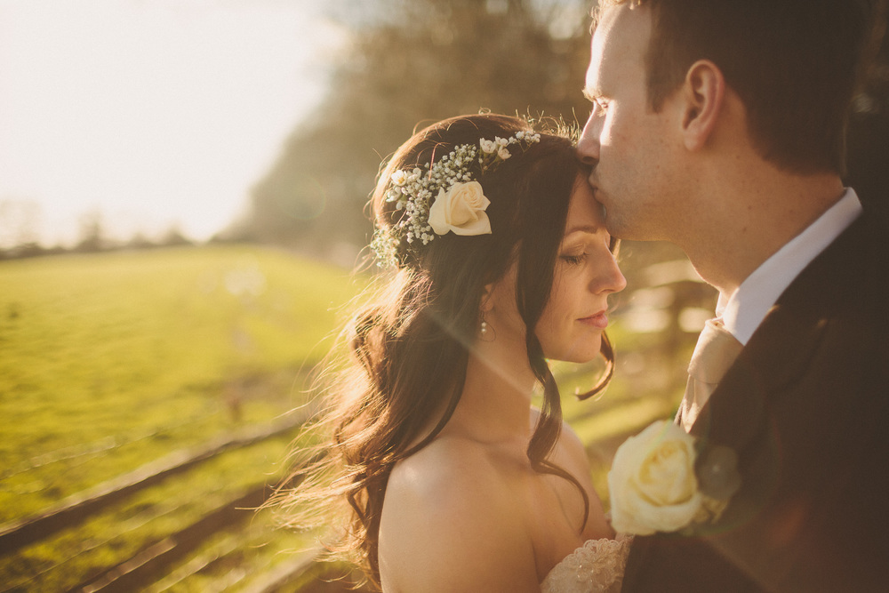 Wedding Hair With Floral Head Piece