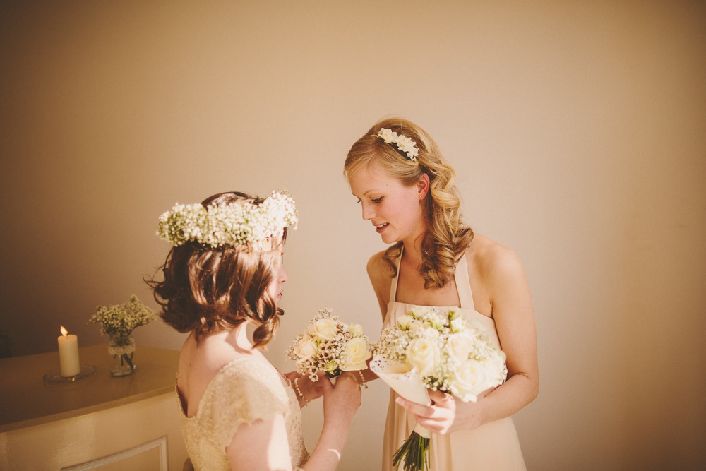 Flowergirls Hair With Fresh Flowers