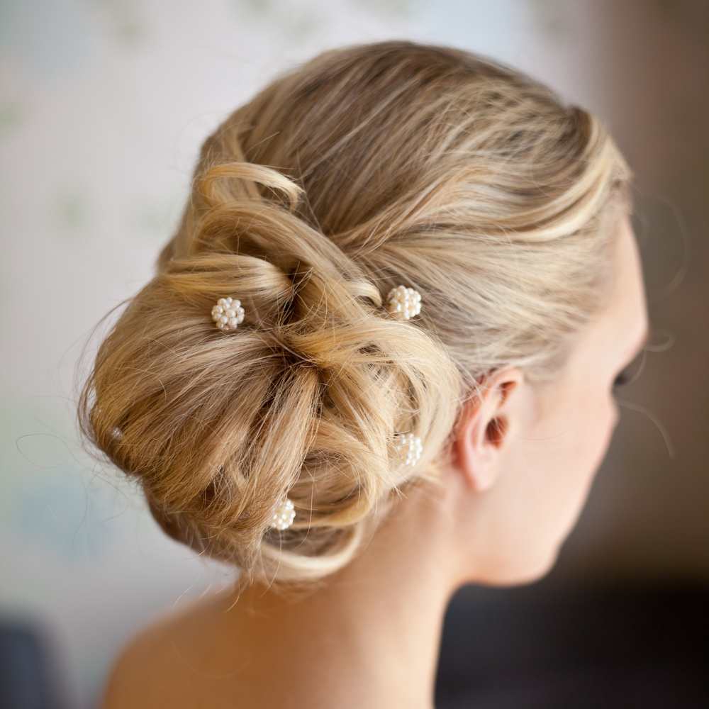 Simple hair Up With Pins