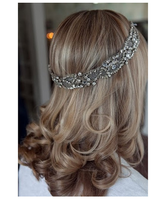 Loose Waves With Jenny Packham Head Band