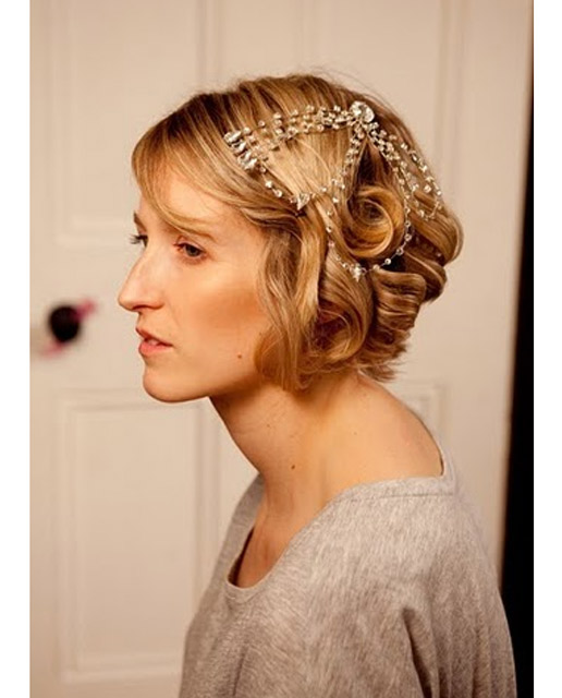 Bobbed Hair Styled For Wedding