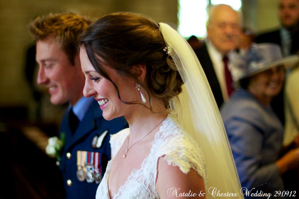 Beautiful Bride With Soft Unstructured Up Do