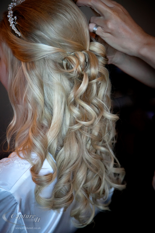 Half up wedding hair with extension
