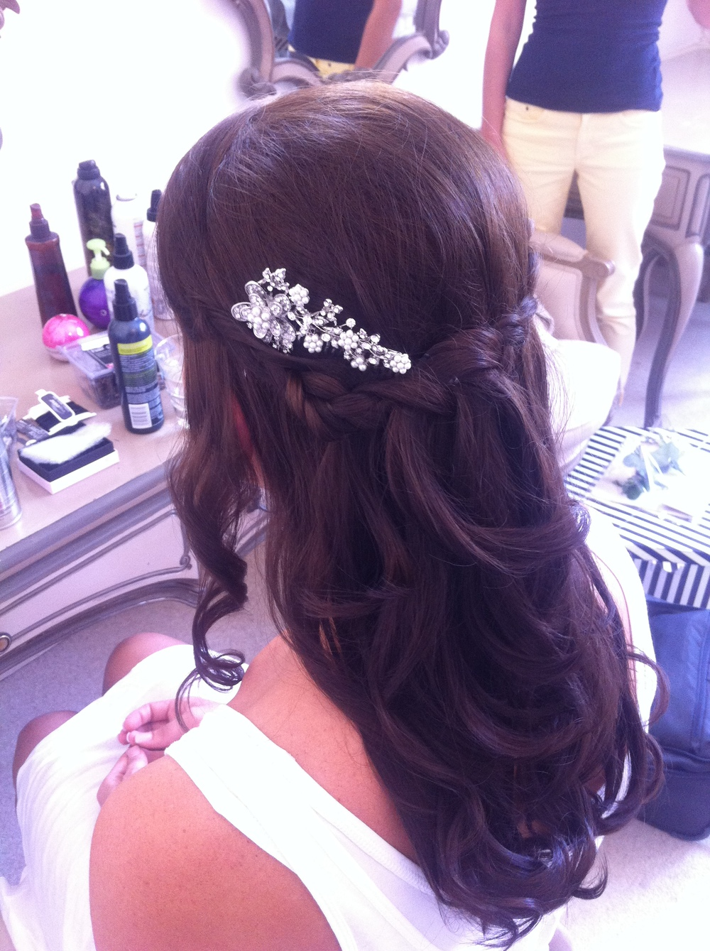 Waterfall braid with waves at nonsuch mansion