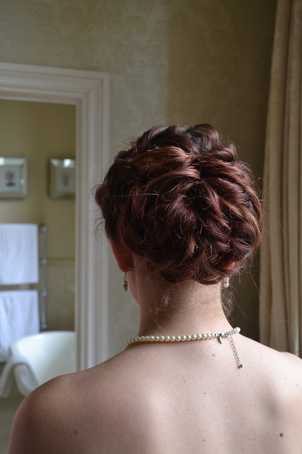Unstructured bridesmaids hair