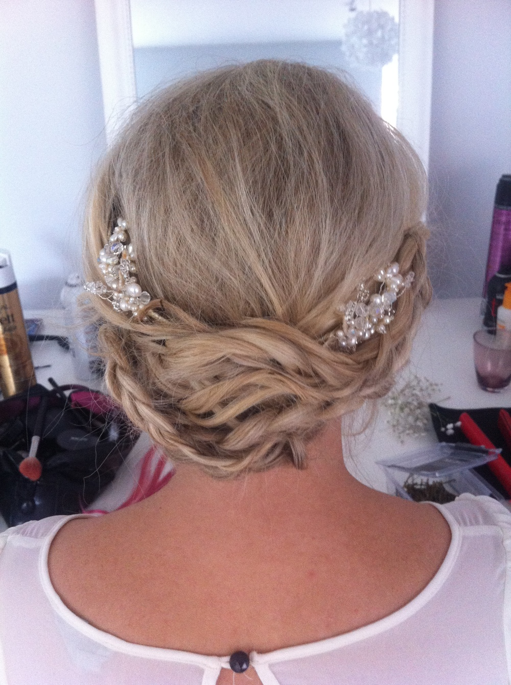 Bridal hair with plaits