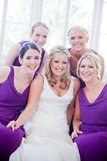 Bride and her Bridesmaids at Nonsuch mansion