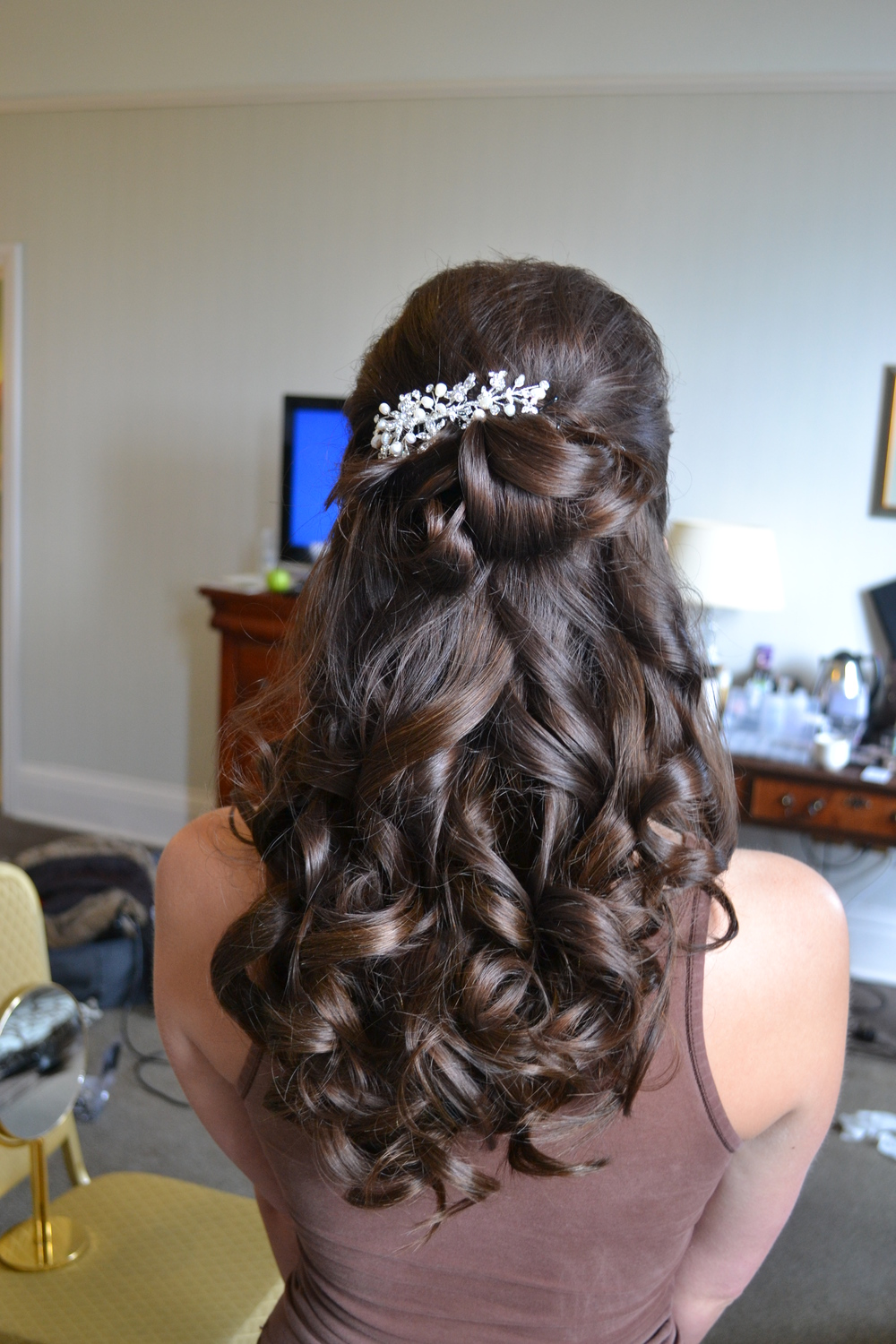 Wedding day curls
