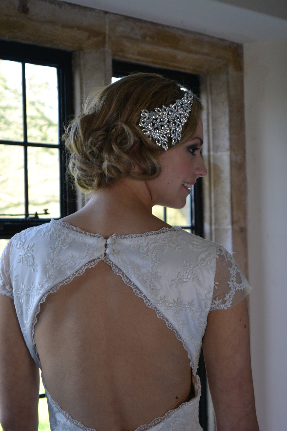Gatsby inspired wedding hair