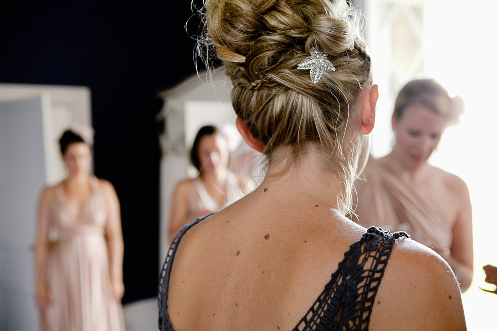 Relaxed up do for wedding in France