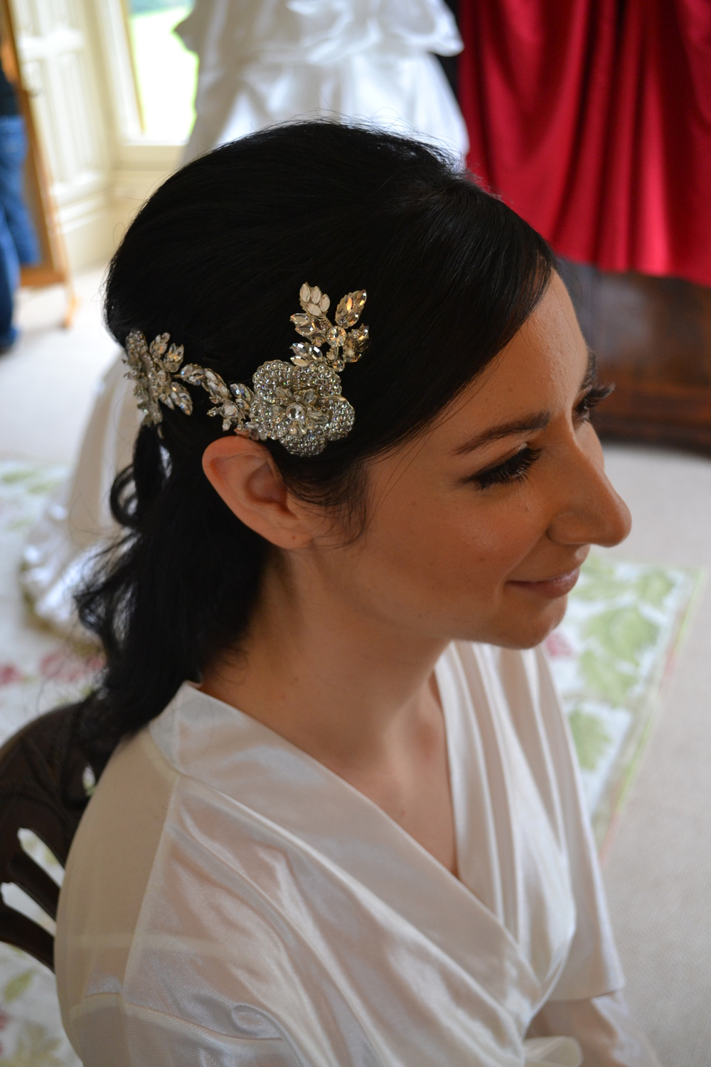 Bridal hair at Highclere Castle
