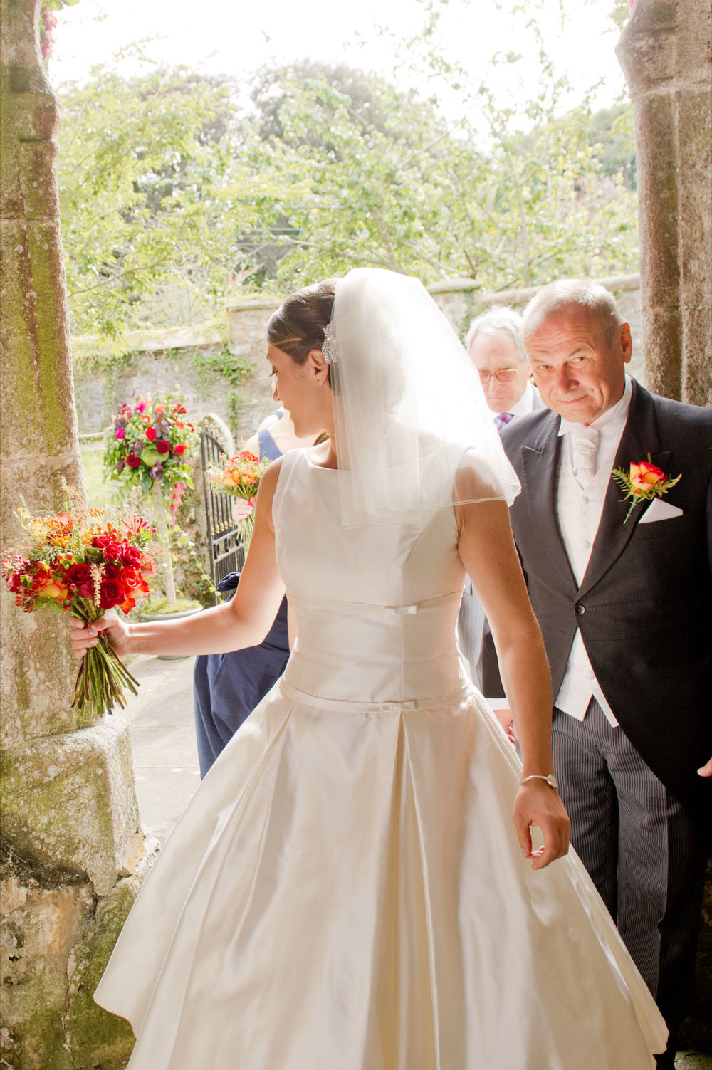Vintage style wedding Cornwall