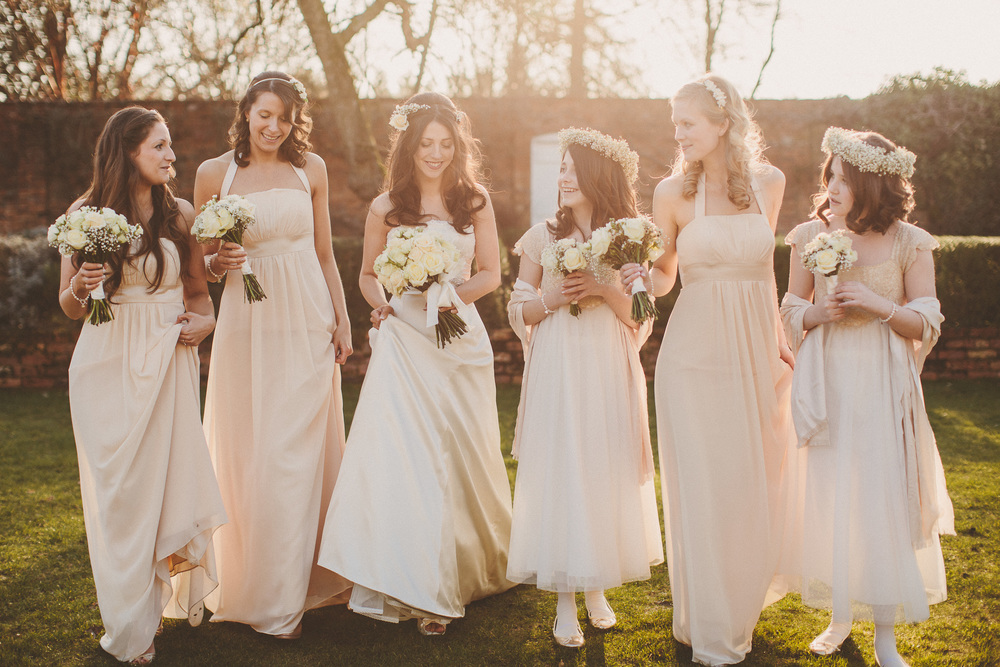Ethereal bridal party