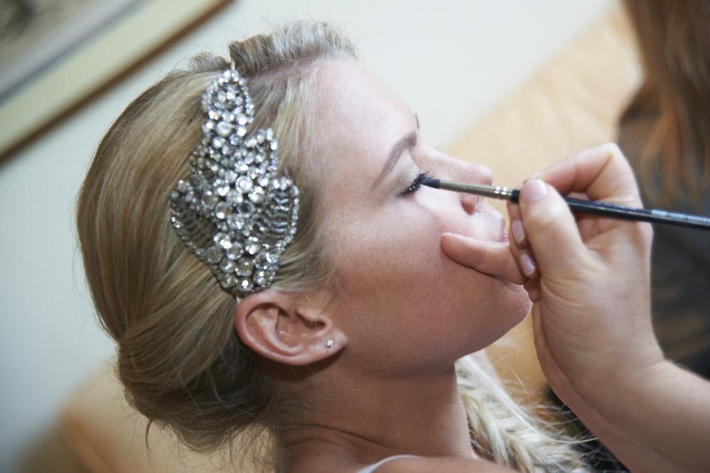 Julia Applying Wedding Make up