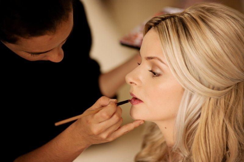 Amanda Applying Bridal Make up