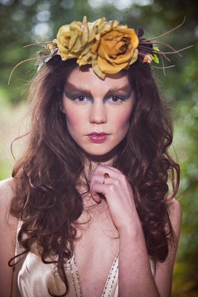 Statement floral head wreath