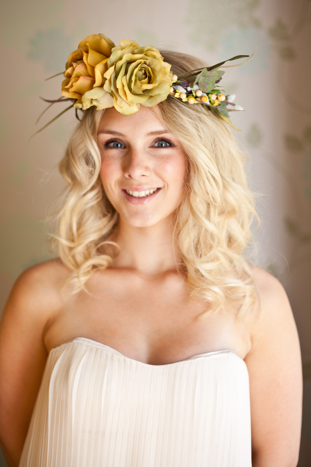 Statement floral head wreath