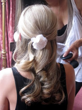 Fresh white rose hair accessory